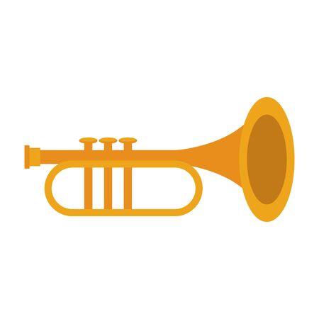 music instrument musical trumpet object cartoon vector illustration graphic design  イラスト・ベクター素材