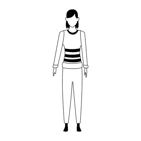 avatar woman standing icon over white background, vector illustration Zdjęcie Seryjne - 132612197