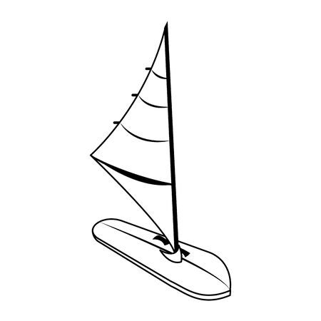 Windsurf table side view equipment isolated vector illustration graphic design