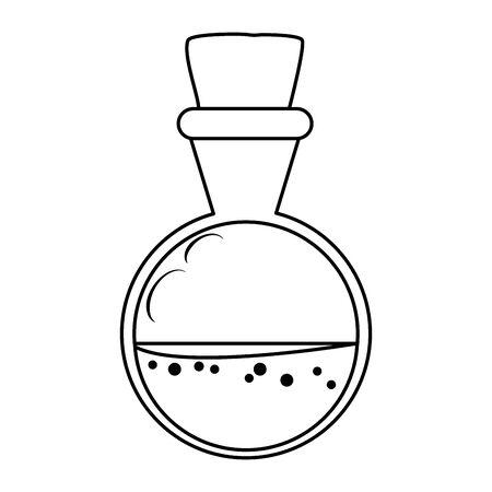 spell bottle halloween isolated icon vector illustration design Illustration