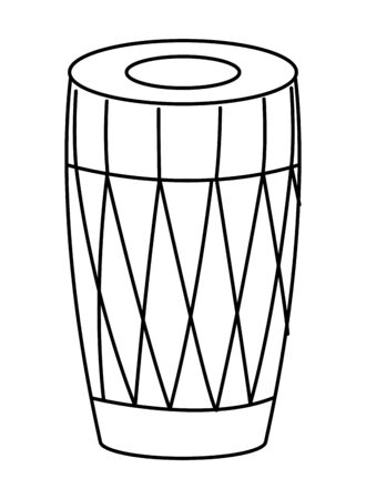 drum mridangam icon cartoon isolated in black and white vector illustration graphic design