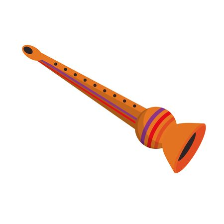 music instrument musical flute object cartoon vector illustration graphic design