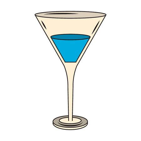 Martini cocktail icon over white background, vector illustration