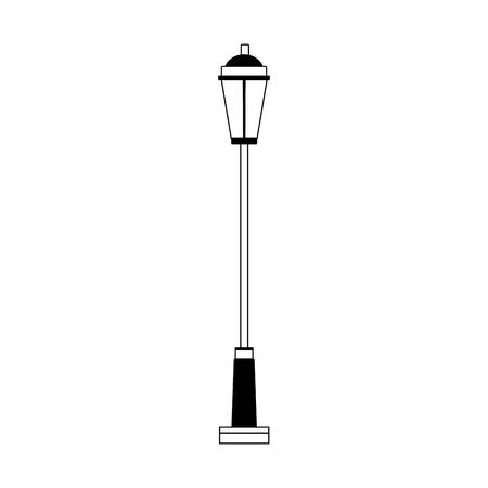street lamp icon over white background, vector illustration