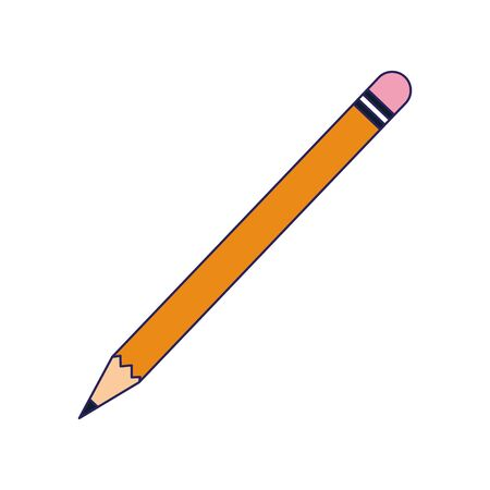 pencil utensil icon over white background, vector illustration