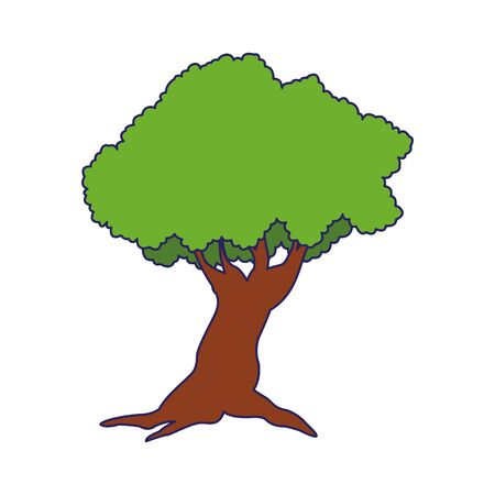 tree plant icon over white background, flat design. vector illustration Ilustração