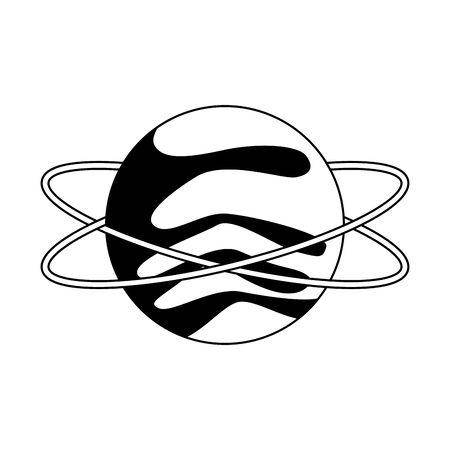 uranus planet icon over white background, vector illustration