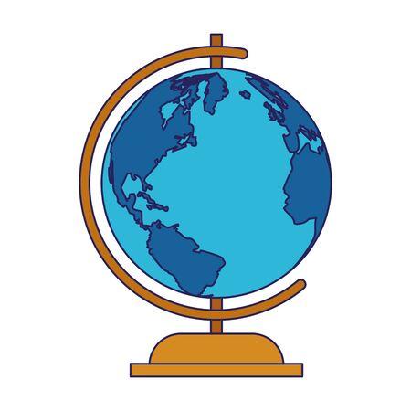 education globe icon over white background, vector illustration Иллюстрация