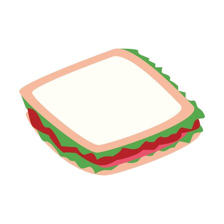 sandwich icon over white background, vector illustration