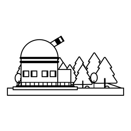 Big space telescope in base symbol isolated vector illustration graphic design
