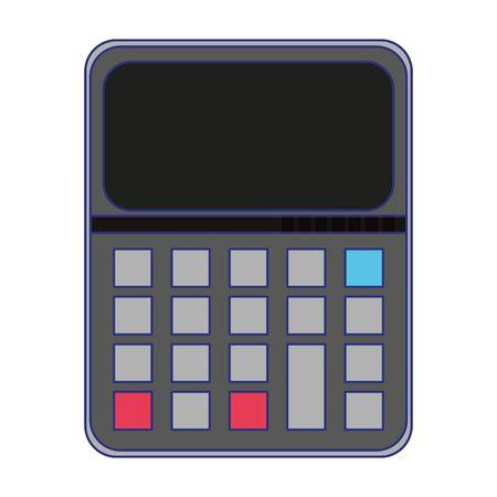 Calculator math device isolated symbol vector illustration graphic design