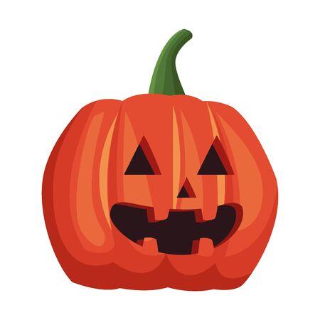halloween pumpkin decorative isolated icon vector illustration design Standard-Bild - 133063069