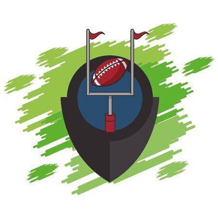 american football sport balloon in arch vector illustration design