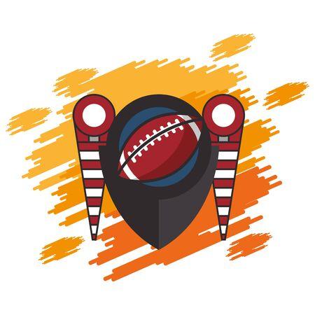 american football sport balloon and flags vector illustration design Ilustracja