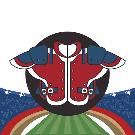 american football sport shirtfront icon vector illustration design