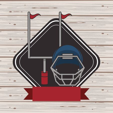 american football sport helmet icon vector illustration design Ilustracja