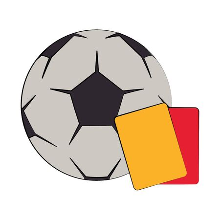 Soccer football sport game ball and referee cards vector illustration graphic design Ilustracja