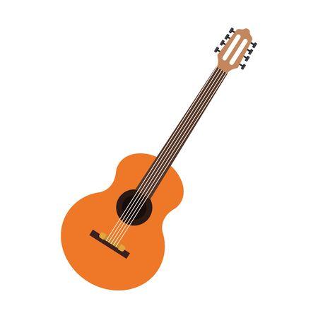 guitar instrument icon over white background, colorful design. vector illustration Ilustrace