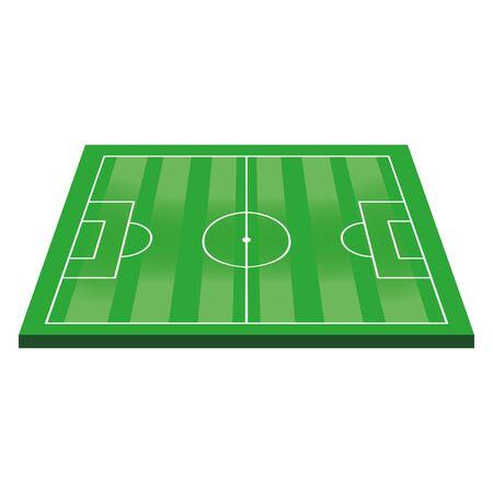 Soccer football play field stadium cartoon vector illustration graphic design