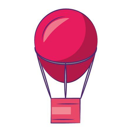 Hot air balloon symbol isolated cartoon illustration editable image