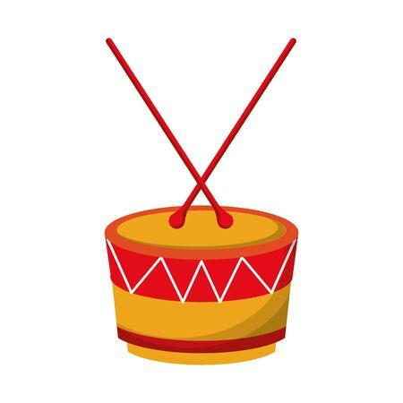 music instrument musical drum object cartoon vector illustration graphic design