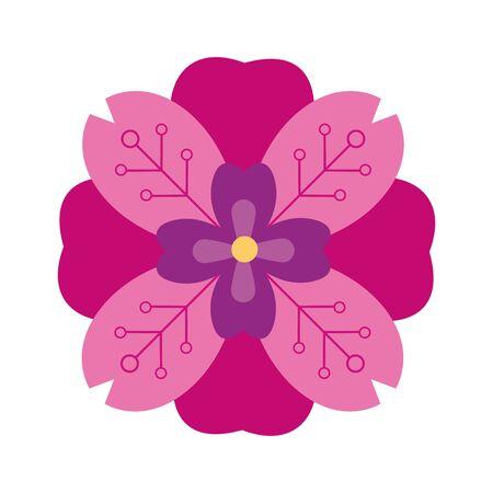 Beautiful flower nature cartoon symbol ,vector illustration graphic design. Ilustracja