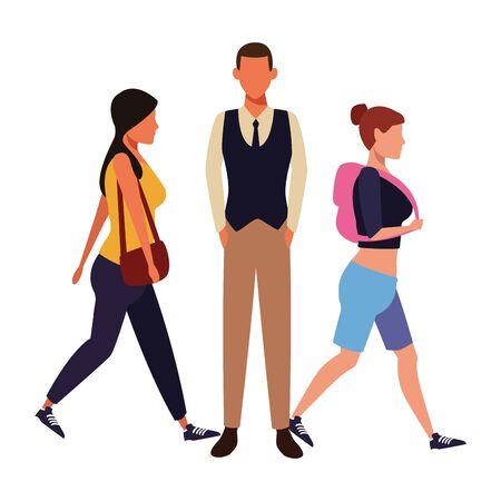 casual people cartoon vector illustration graphic design