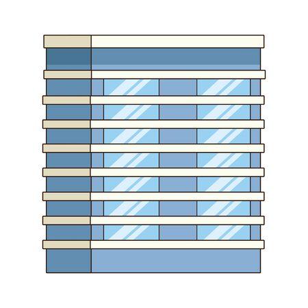 city building icon over white background, colorful design. vector illustration Illustration