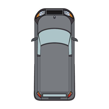 top view of classic car over white background, vector illustration Banque d'images - 133128704