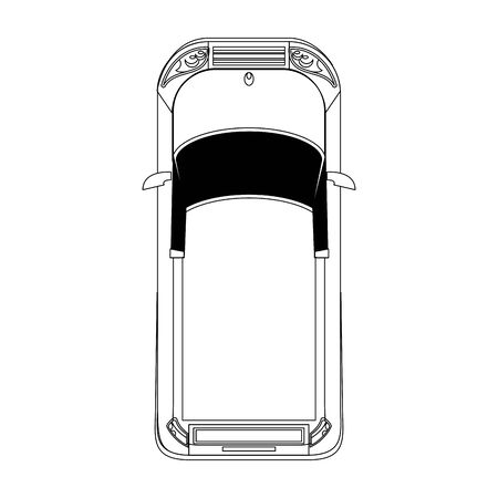 top view of classic car over white background, vector illustration Banque d'images - 133130884