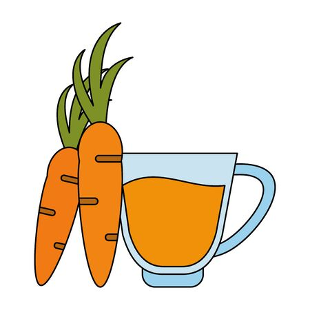 healthy drink juice carrot nature glass cartoon vector illustration graphic design 일러스트