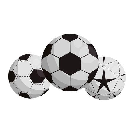 soccers balls icon over white background, vector illustration Archivio Fotografico - 133156370