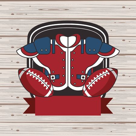 american football sport shirtfront icon vector illustration design