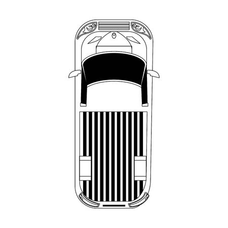 top view of pickup truck icon over white background, vector illustration Stock Vector - 133205673