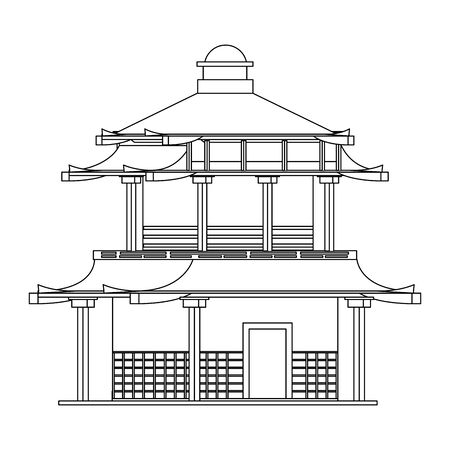 chinese building icon over white background, vector illustration Stock fotó - 133239952