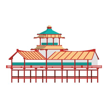 chinese building icon over white background, vector illustration Stock fotó - 133239966