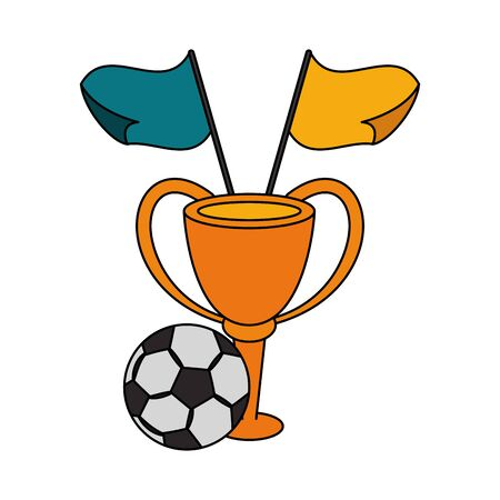 soccer football sport game competition play activity, success championship game objects cartoon vector illustration graphic design