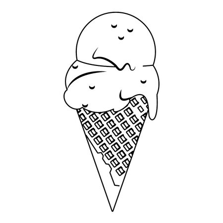 ice cream cone icon over white background, vector illustration Stock Vector - 133251962