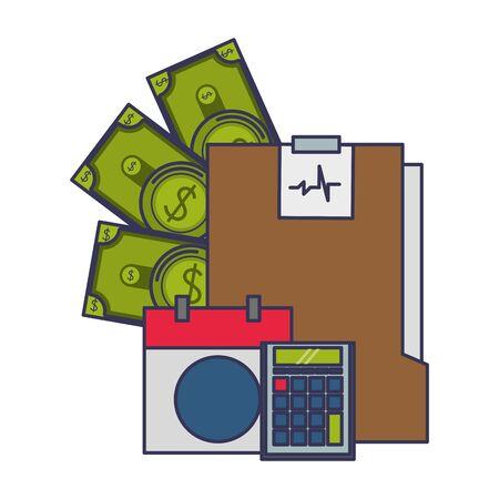 saving money business personal finance balance calculate elements cartoon vector illustration graphic design 일러스트