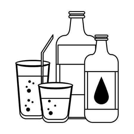 healthy diet nutrition drinking lifestyle, vegan and organic drinks objects cartoon vector illustration graphic design Иллюстрация