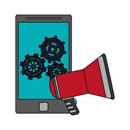 technology digital modern hardware, smartphone support cartoon vector illustration graphic design