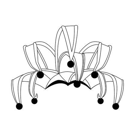 Elegant Harlequin ornament icon over white background, vector illustration