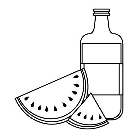 healthy diet nutrition eating lifestyle, vegan and organic objects cartoon vector illustration graphic design Illusztráció
