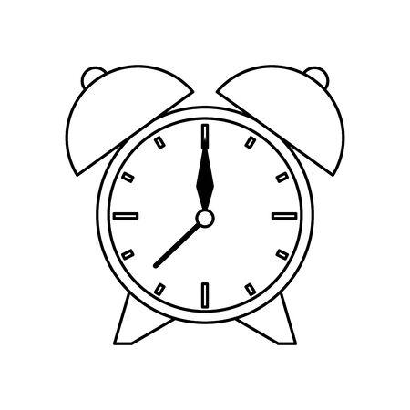 time retro alarm clock vintage isolated cartoon vector illustration graphic design Stok Fotoğraf - 133343140