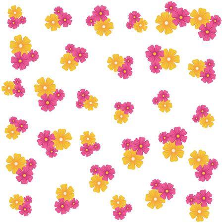 flowers icon cartoon background vector illustration graphic design Standard-Bild - 133476402