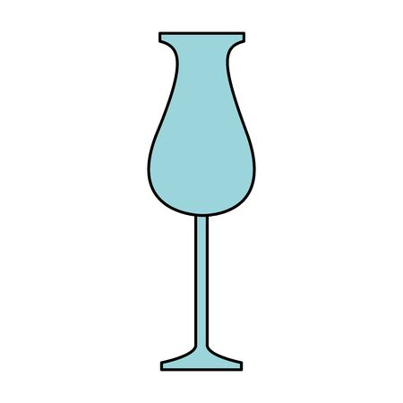 cocktail glass icon over white background, vector illustration
