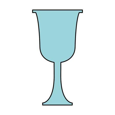glass icon, over white background, vector illustration Ilustracje wektorowe