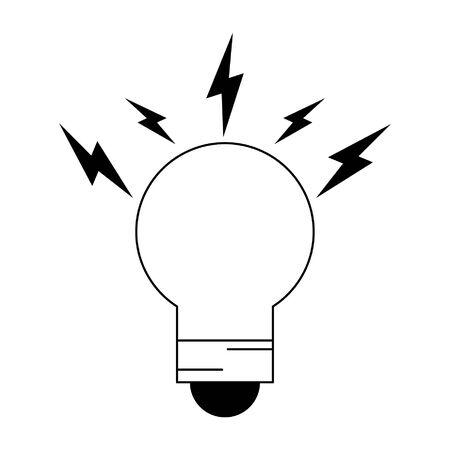 light bulb icon cartoon vector illustration graphic design
