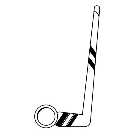 Hockey stick and puck extreme sport vector illustration graphic design