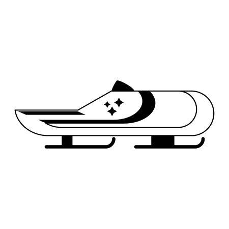 winter extreme sport bobsledding car vector illustration graphic design